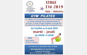 STAGE PILATES - ETE 2019